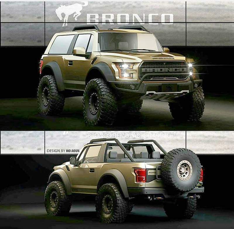 2018 Ford Bronco 4 Door >> 2021 Ford Bronco 2-door convertible rendering | 2020-2021 Ford Bronco Forum (6th Generation ...